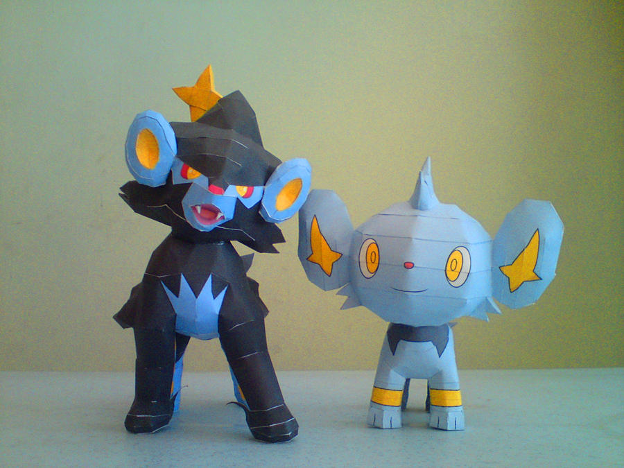 Luxray and Shinx by riolushinx