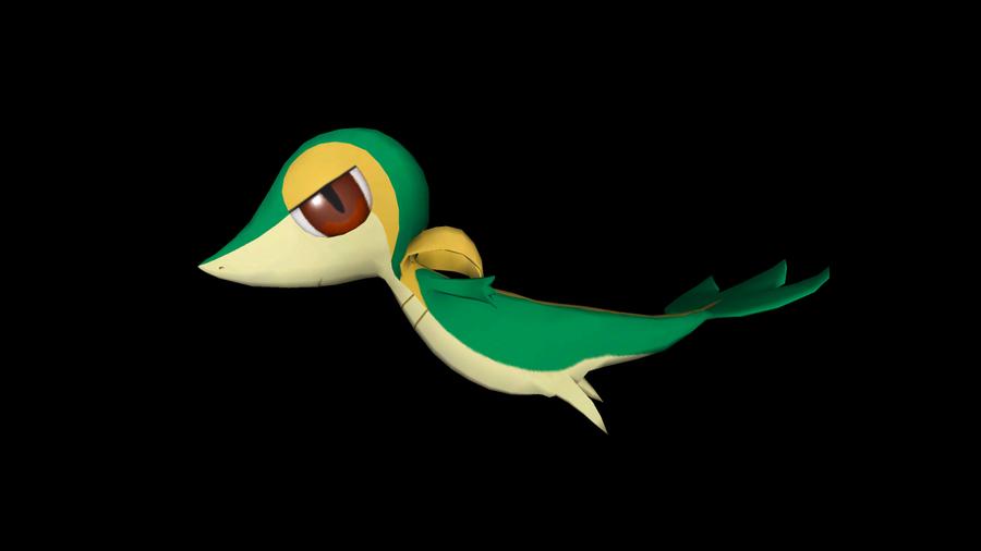 Flying Snivy by riolushinx