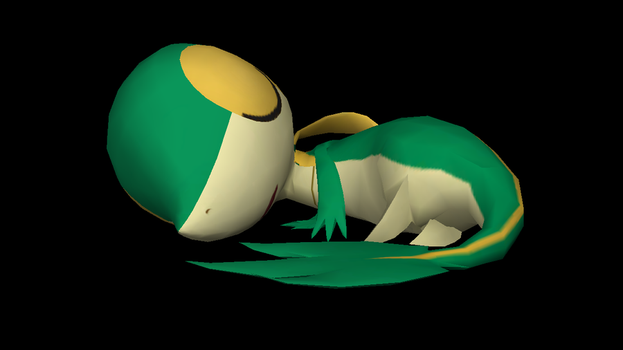 Sleeping Snivy by riolushinx