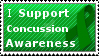 Concussion Awareness Stamp! by ilikehorses2