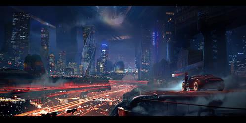 Mars city by Vagrantdick