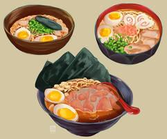 Ramen studies by sian-draws