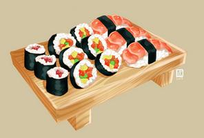 Sushi by sian-draws
