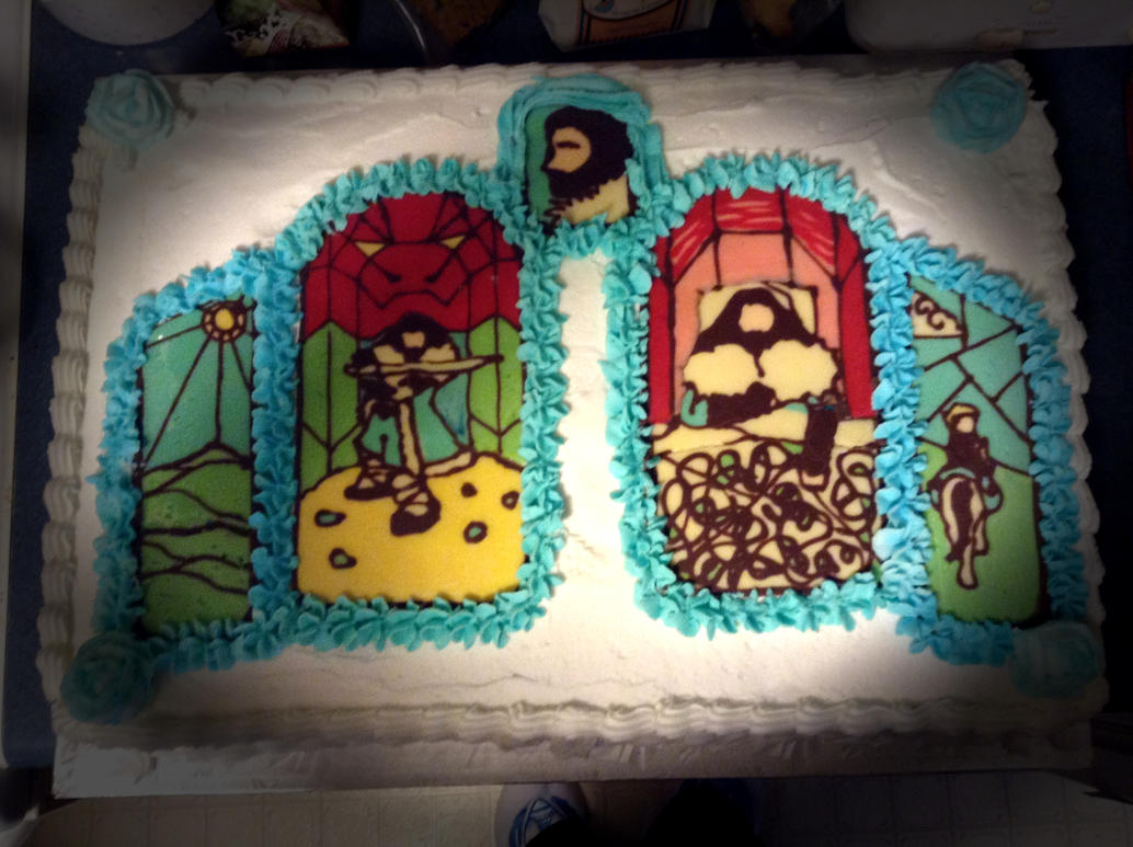 Hobbit Stain Glass cake by Zenith-AzuraTiger
