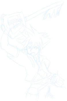 WIP Sora from Kingdom Hearts