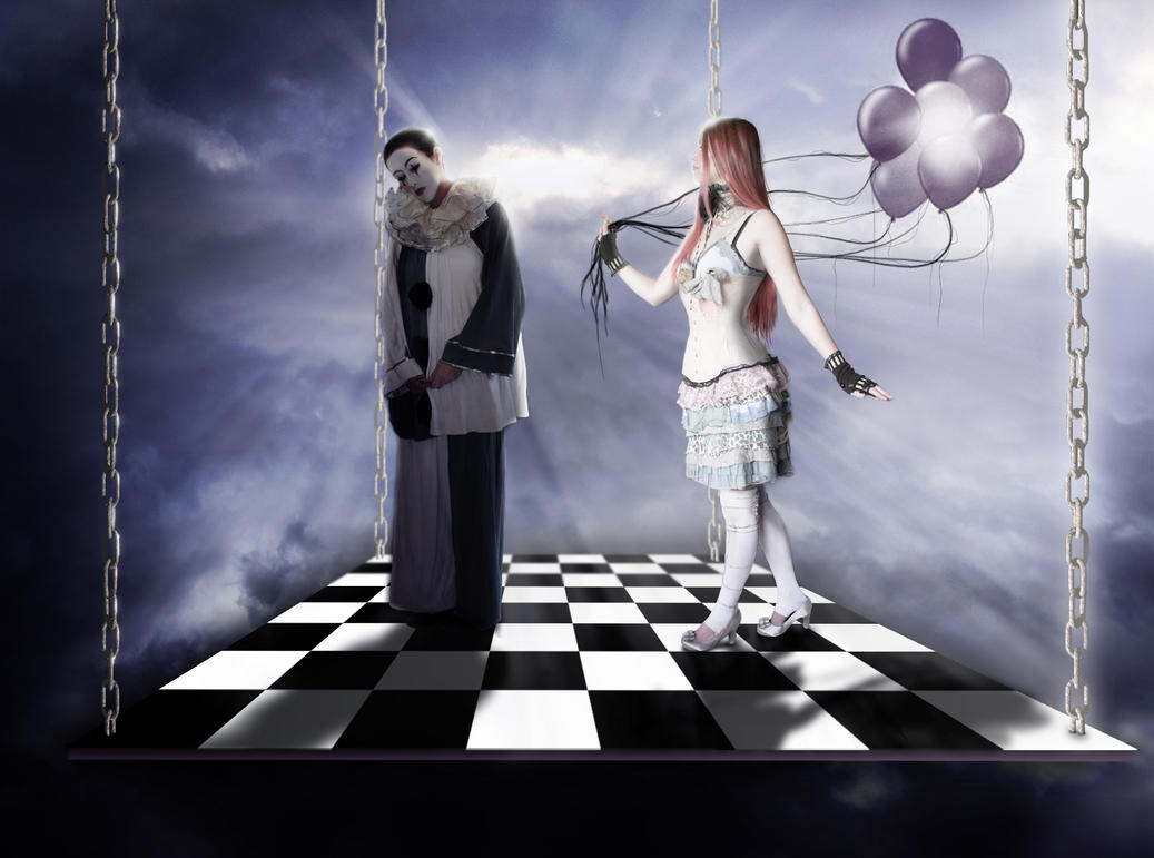 The Clown and the Doll by svarthvitt