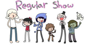 Regular show human cast by CoffeeFueledFangirl