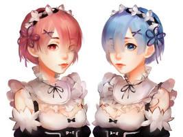 Rem and Ram by Ariuemi