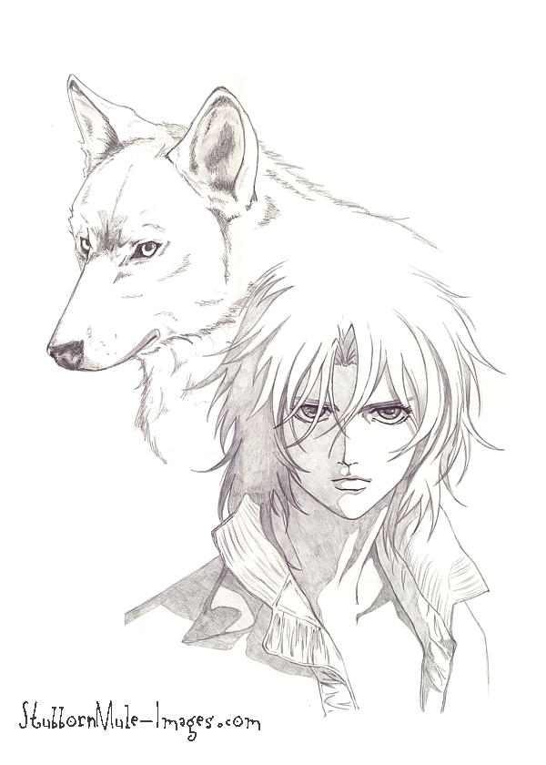 wolf rain coloring pages - photo#29