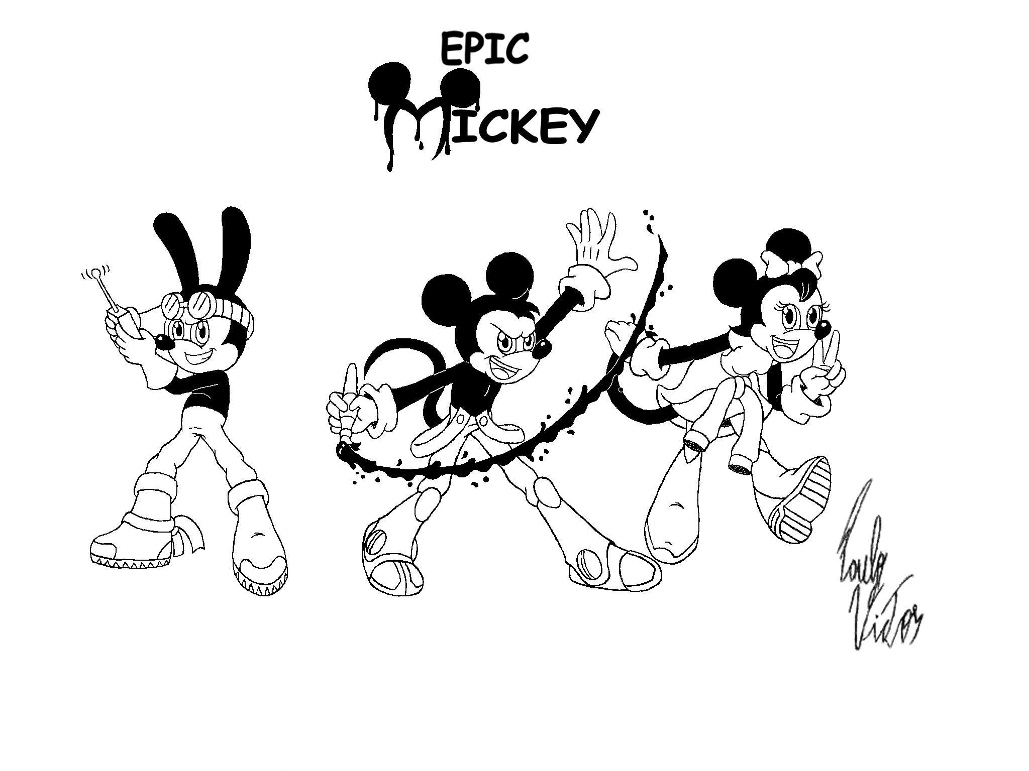epic mickey by xpv360 on deviantart