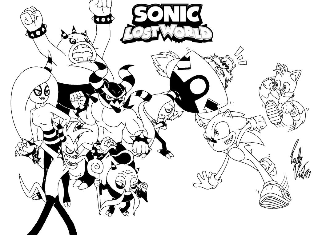 sonic lost world coloring pages - sonic lost world by xpv360 on deviantart