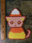 Candy Corn Cat by perler-me-this