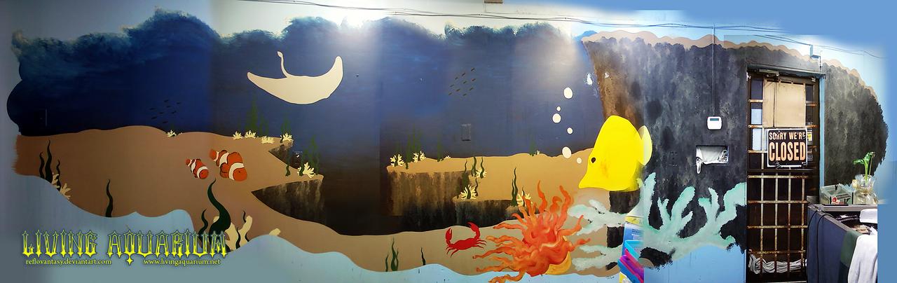 Mural at living aquarium by reflovantasy on deviantart for Aquarium mural gifi