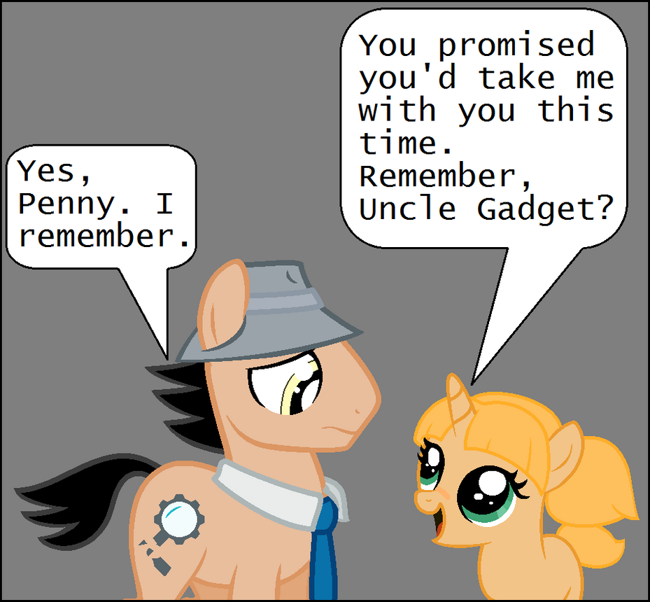 MLP: Inspector Gadget Comic Panel by Miraclegg