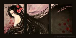 . Poppies triptych.