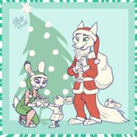 Santa is a Fox (Patreon Reward) by yelnatsdraws