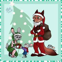 Santa is a Fox (Patreon) by yelnatsdraws