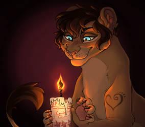 Black Flame Candle YCH (TwitterLu)