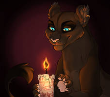 Black Flame Candle YCH (VampireFlower)