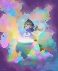Rythian the potion maker by CrystalBluePuppy