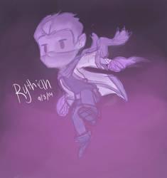 Sketchy Purple action Rythian by CrystalBluePuppy