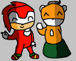 (R) Knuckles meets Naga Tails Doll