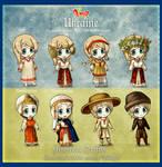 Hetalia 100 Guises: Historical Outfits part 1