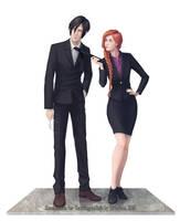 Commission: Nobuchika Ginoza and OC by AtreJane