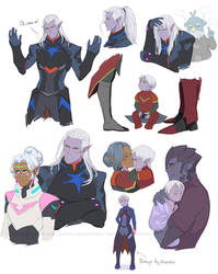 Sketches of  Voltron: Lotor
