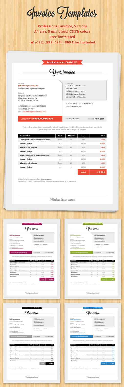 invoice template by mareklevak on deviantart. Black Bedroom Furniture Sets. Home Design Ideas