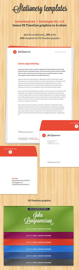 Stationery template