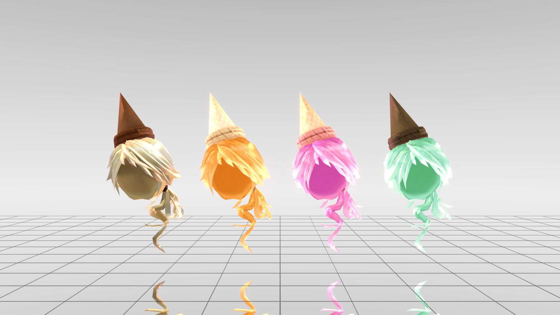 Mmd Roblox Ice Cream Hair Dl By Ona2000 On Deviantart