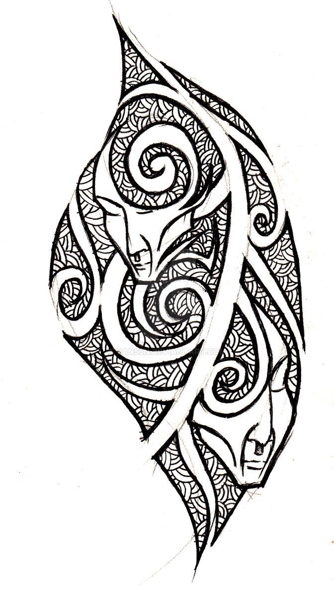 gemini tribal tattoo concept by vans3n on deviantart. Black Bedroom Furniture Sets. Home Design Ideas