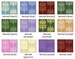 { seamless textures: damask color pack } by MaliceStryker