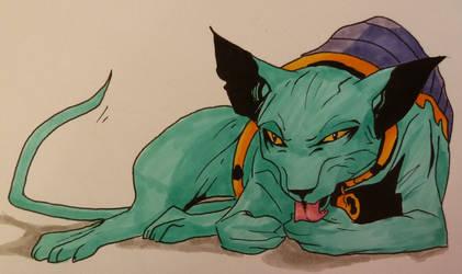 Lying Cat by Aku-X-Fox