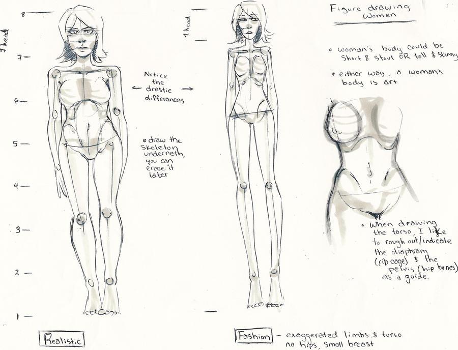 Figure Drawing Tutorial : Women by Aku-X-Fox on DeviantArt