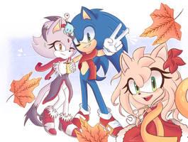Sonic, Amy and Blaze