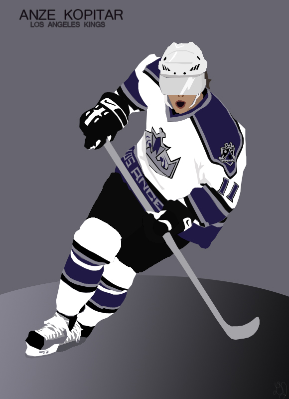 Anze Kopitar Vector by djoker2k2