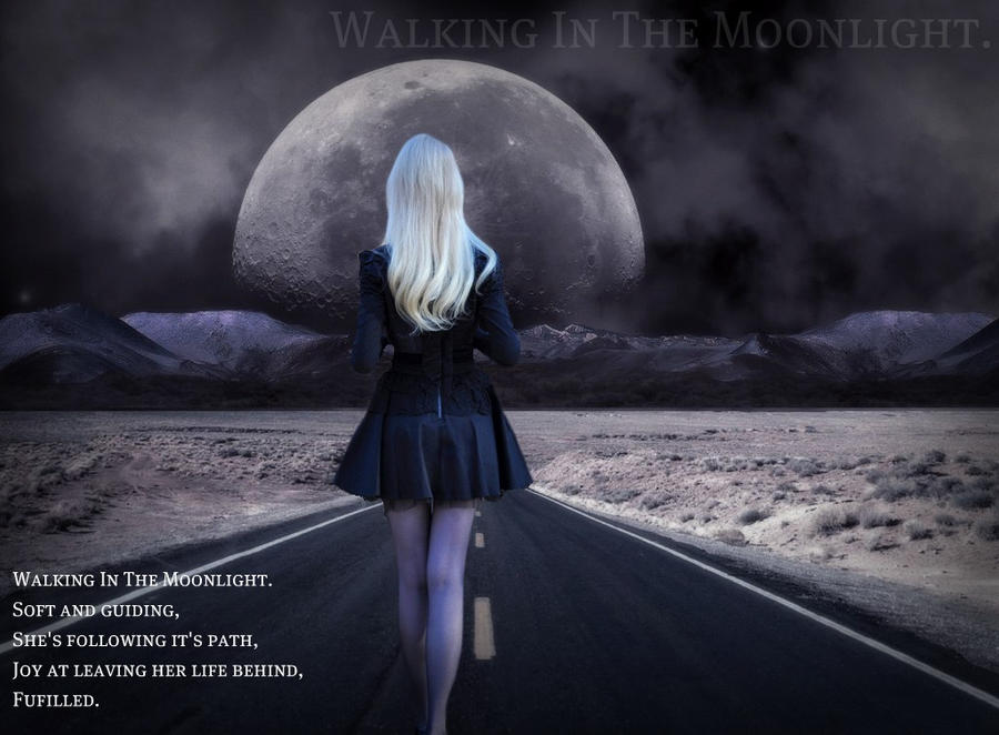 Walking in the Moonlight. by thewritingthimble