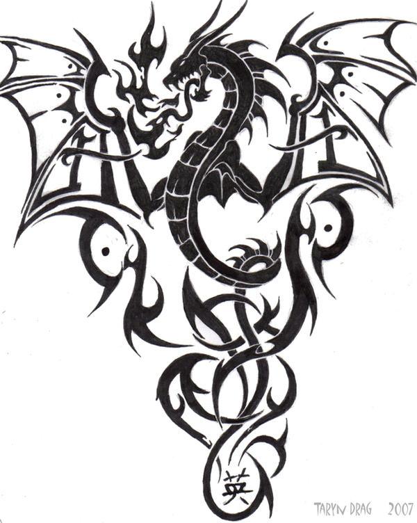 Tribal Dragon by Tigeress08