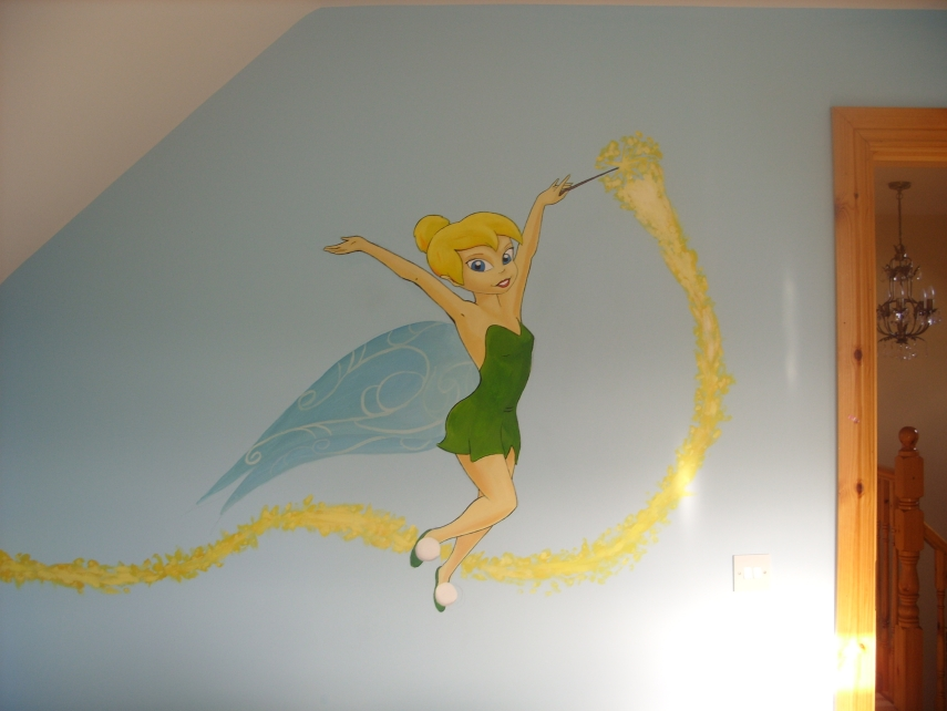 tinkerbell wall mural 1 by cheal on deviantart vintage tinker bell giant wall mural decals new tinkerbell