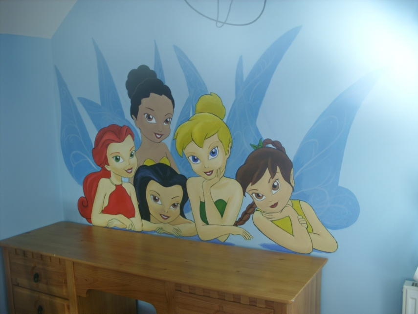 tinkerbell wall mural 3 by cheal on deviantart