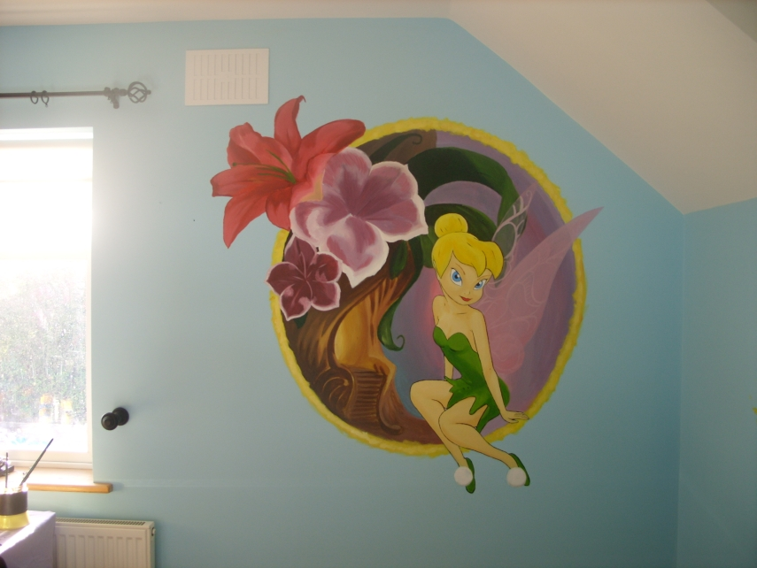 tinkerbell wall mural 4 by cheal on deviantart tinkerbell wall mural