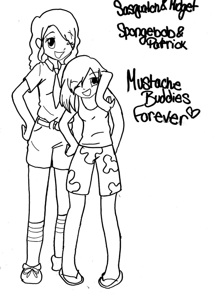 anime sisters coloring pages - photo#22