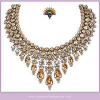 Pearls  Gems Collier Necklace by LilyStox