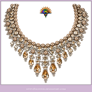 Pearls  Gems Collier Necklace