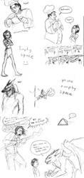 Bartimaeus Trilogy sketchdump by CrazyRatty