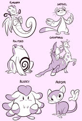 New-old pokeymans by CrazyRatty
