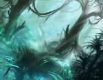 Misty Rainforest (MTG fan art)