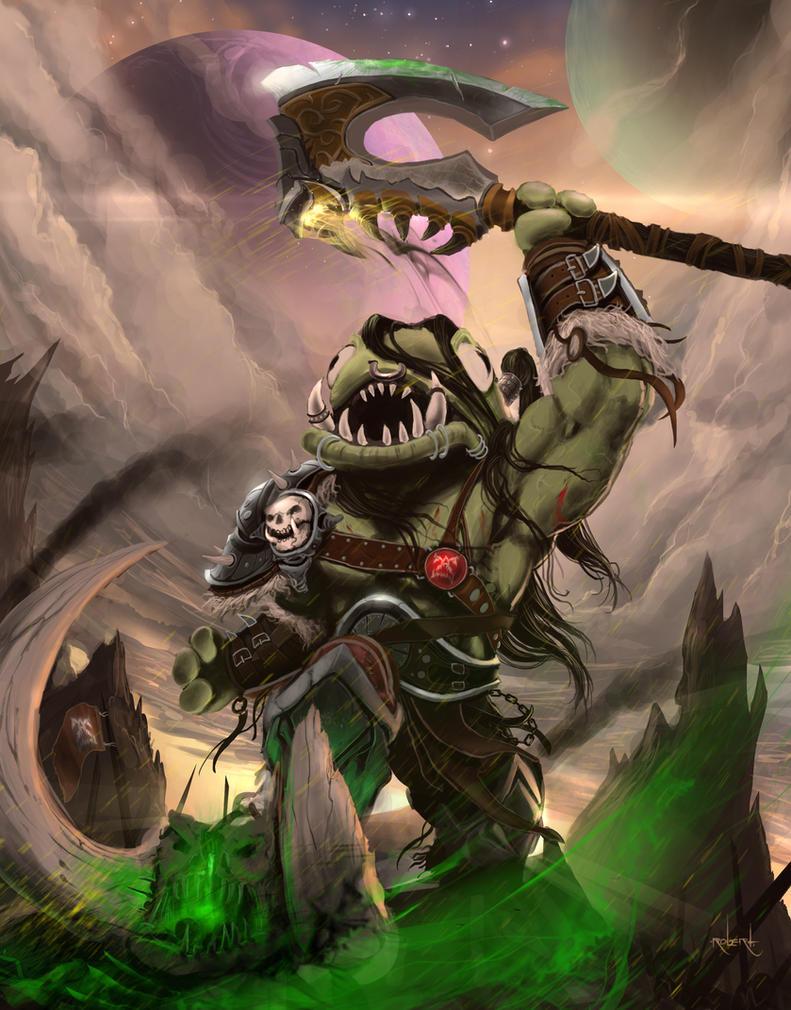Grommloc - Warlords of Draenor fan art. by d1eSELxxxx